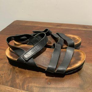 NAOT Sandals Black Leather 38/US7 GUC